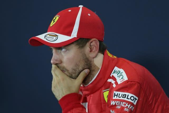 Sebastian Vettel will leave Ferrari at the end of the year, creating openings for others (David Davies/PA)