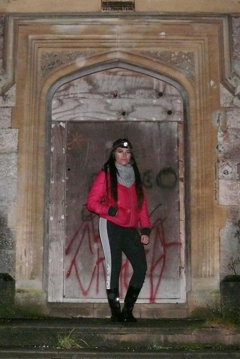 Despite her scare, Kyla's determined to see even more of the haunted asylum. Photo: Caters News