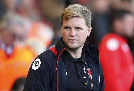 Bournemouth manager Eddie Howe before the game