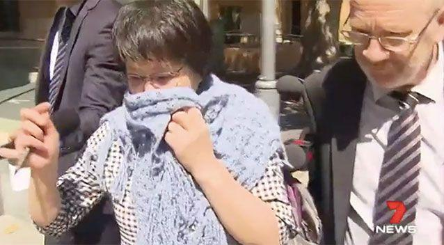 Chungping Quan leaves court on Wednesday. Source: 7 News