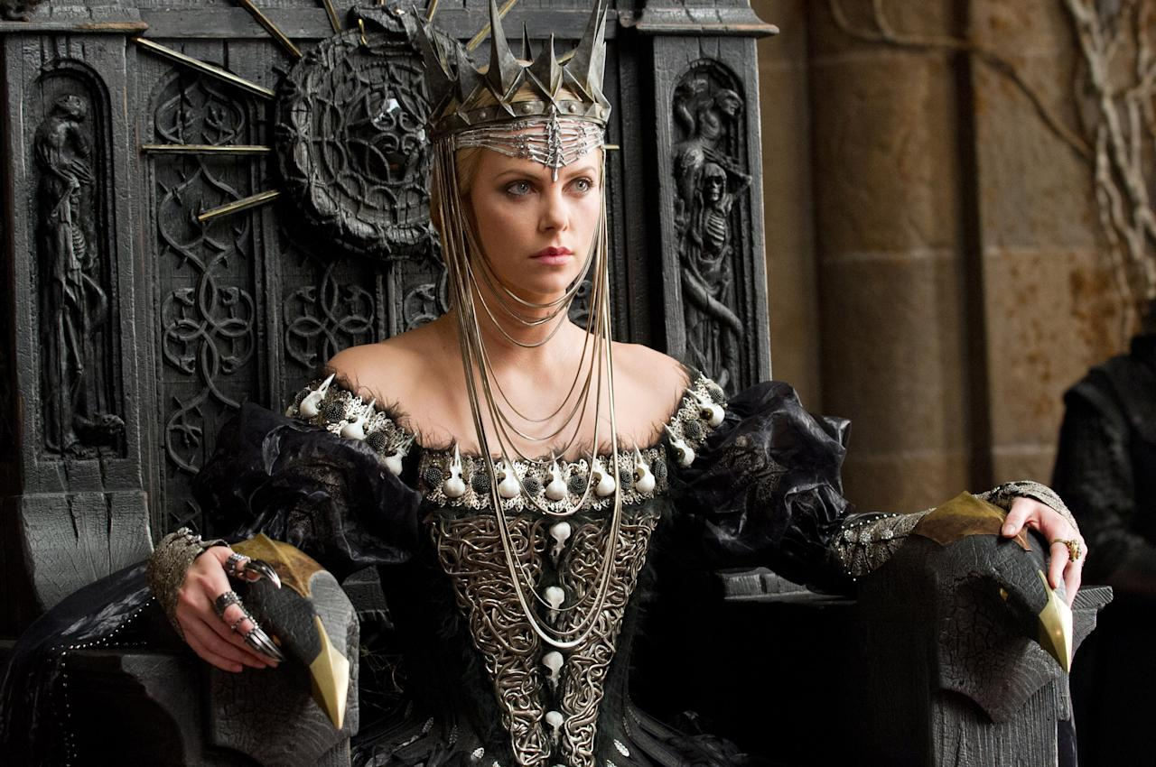 SNOW WHITE AND THE HUNTSMAN, Charlize Theron, 2012.