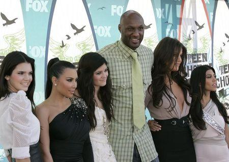 Television personalities and NBA player Lamar Odom arrive at the Teen Choice 2010 Awards in Los Angeles