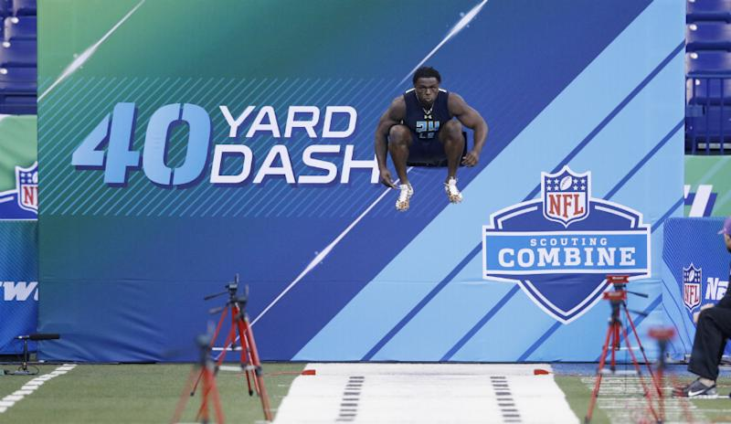 Jabrill Peppers at the 2017 NFL Scouting Combine