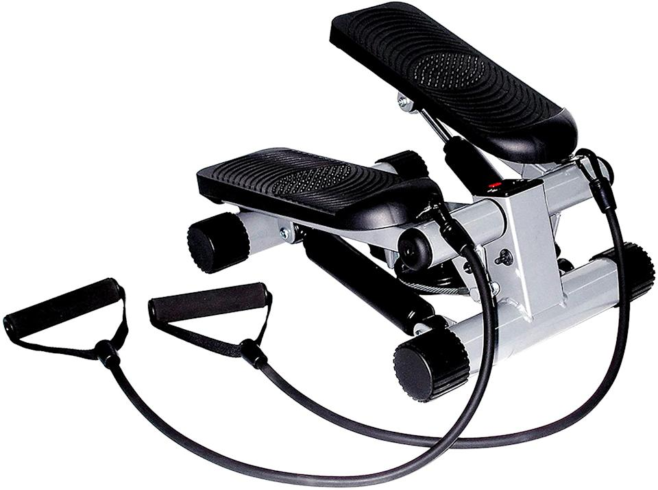 Sunny Health & Fitness Mini Stepper with Resistance Bands-  Amazon.