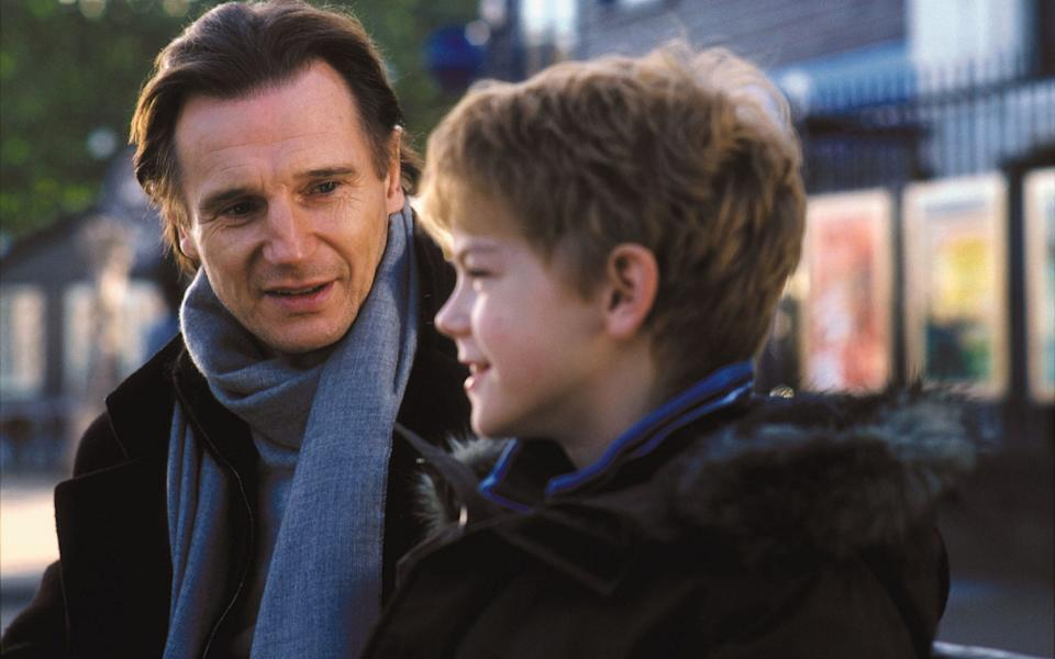 Liam Neeson and Thomas Brodie-Sangster in Love Actually - Peter Mountain