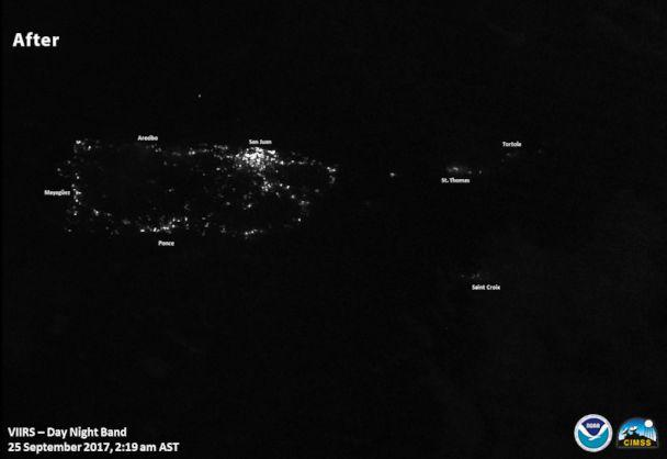 PHOTO: Images of lights on in Puerto Rico after Hurricane Maria. (NOAA/NASA)