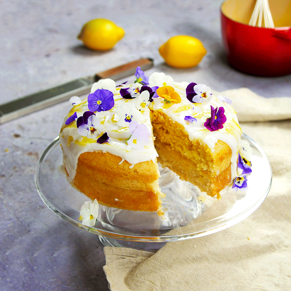 """<p>This amazingly soft and delectable vegan cake is dairy free and egg free, but you'd never know. </p><p><strong>Recipe: <a href=""""https://www.goodhousekeeping.com/uk/food/recipes/a578129/vegan-lemon-drizzle-cake/"""" rel=""""nofollow noopener"""" target=""""_blank"""" data-ylk=""""slk:Vegan lemon drizzle cake"""" class=""""link rapid-noclick-resp"""">Vegan lemon drizzle cake</a></strong></p>"""