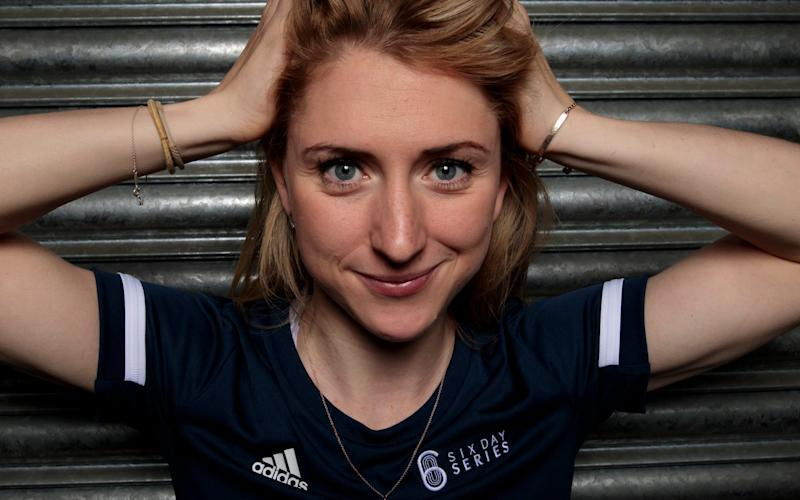 Cyclist Laura Kenny photographed at the National Cycling Centre in Manchester - Laura Kenny interview: 'I was in incredible pain and so happy the Olympics were off' - JON SUPER