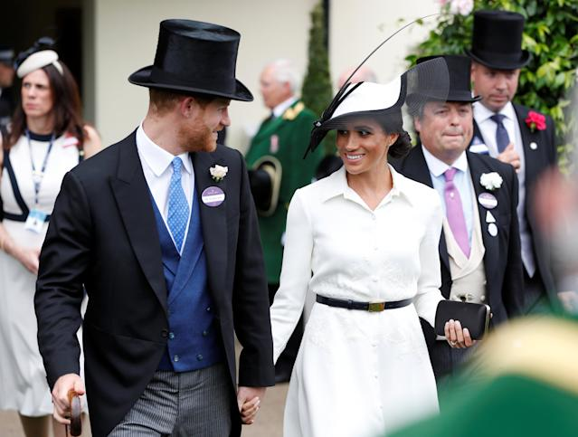 Horse Racing - Royal Ascot - Ascot Racecourse, Ascot, Britain - June 19, 2018 Britain's Prince Harry and Meghan, the Duchess of Sussex during Royal Ascot Action Images via Reuters/Paul Childs