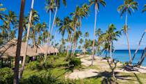 """<p>This five-star eco resort is an excellent option for families looking to reduce their carbon footprint and getaway together in style. The award-winning resort is all about authentic experiences that honor traditions of the South Pacific while offering all the modern luxuries one could need. </p><p><a href=""""https://www.fijiresort.com/"""" rel=""""nofollow noopener"""" target=""""_blank"""" data-ylk=""""slk:Jean-Michel Cousteau Resort"""" class=""""link rapid-noclick-resp"""">Jean-Michel Cousteau Resort</a> is home to an acclaimed kids' program that encourages adventure, curiosity, and creativity while offering plenty of exciting activities and excursions to enjoy together. The 17-acre property houses 25 one- and two-bedroom bures (a Fijian word for cabin) to make the most of your stay. </p>"""
