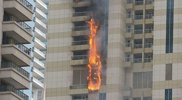The fire in Dubai. Source: Reuters/Twitter