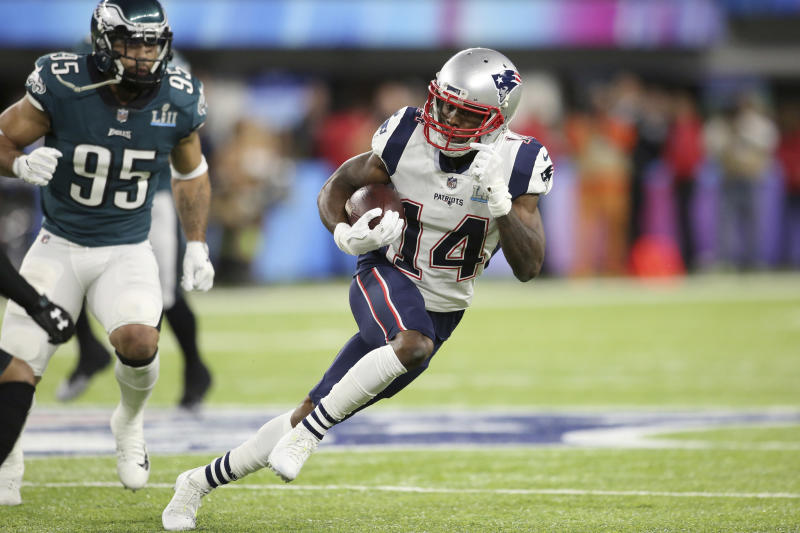 Receiver Brandin Cooks was traded from the Patriots to the Rams the second straight offseason in which he has been traded