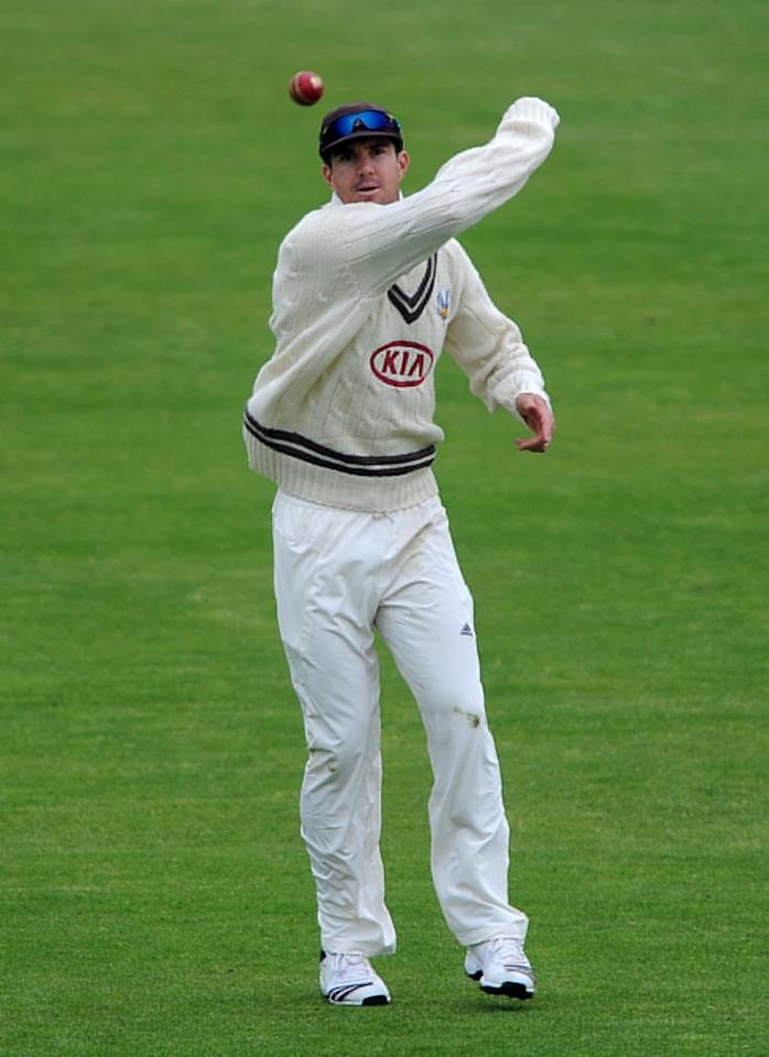 Surrey's Kevin Pietersen fields during day one of the LV County Championship match at Headingley Cricket Ground, Leeds.
