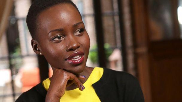 PHOTO: Academy Award-winner Lupita Nyong'o is interviewed by Elizabeth Vargas, for 'Nightline', airing on the ABC Television Network. (Fred Lee/ABC )