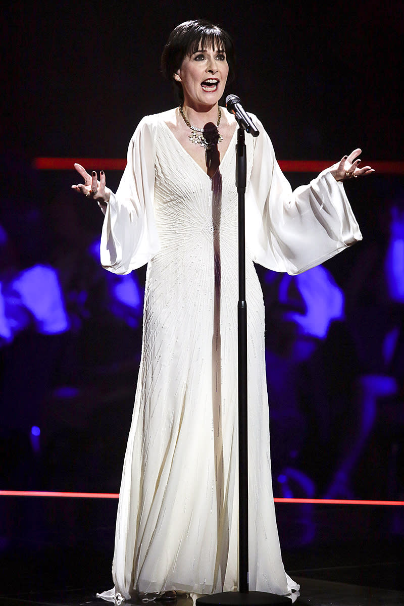<p>The Irish singer is the only artist on this list from a country other than the U.S., Canada, or England. The top seller for Enya, 55, is 2000's A Day Without Rain (7 million). (Photo: AP Photo/Markus Schreiber, Pool) </p>