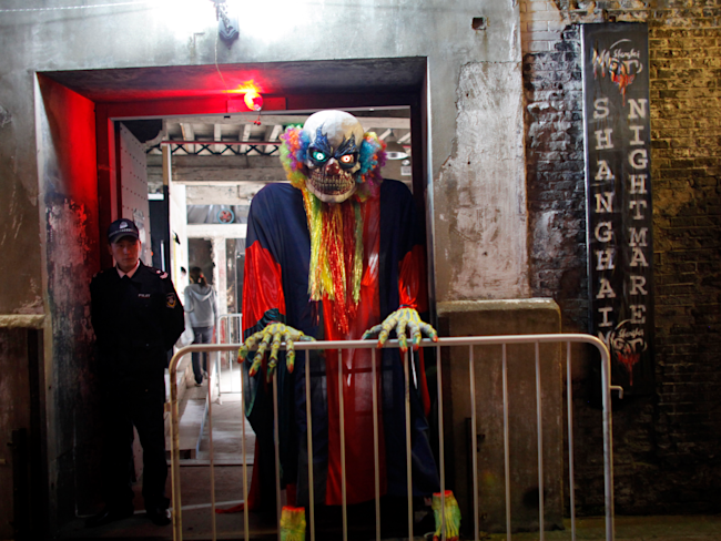 china ghost scary costume clown