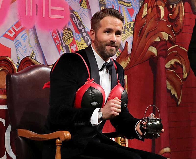 Ryan Reynolds, this year's recipient of the Hasty Pudding Man of the Year Award (Credit: Matthew J. Lee/The Boston Globe via Getty Images)