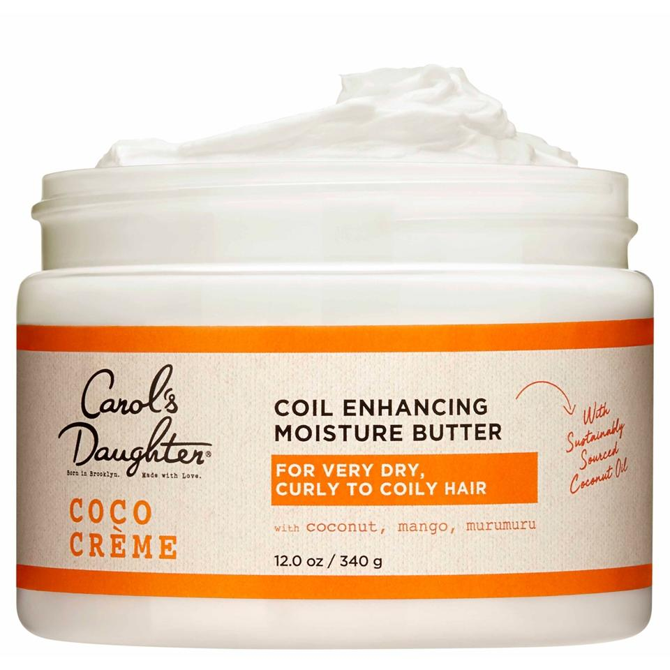 <h3><strong>Product Pick: Carol's Daughter Coil Enhancing Moisture Butter</strong></h3><br>This buttery cream will add instant moisture and definition to 2C, 3C, and 4C curls when you're styling your cut at home.