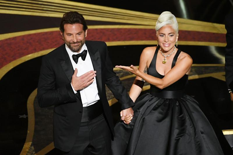 Bradley Cooper and Lady Gaga at the Academy Awards