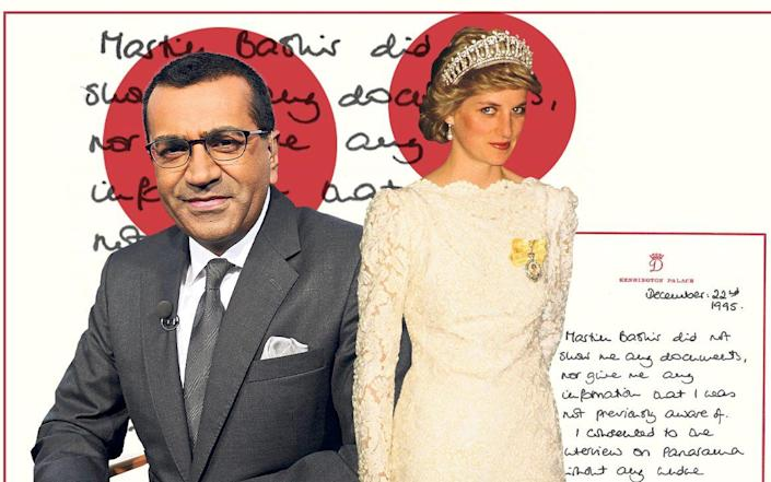 In the handwritten note, the Princess said Bashir did not show her any documents or give her any information 'that I was not previously aware of'