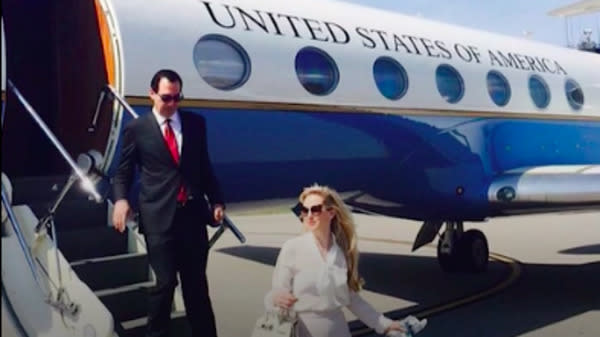 Steve Mnuchin Asked To Use Government Plane For His European Honeymoon