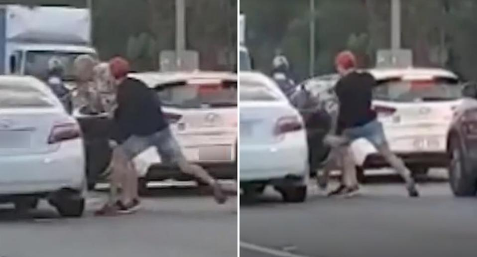 A road rage incident that occured on the gold Coast