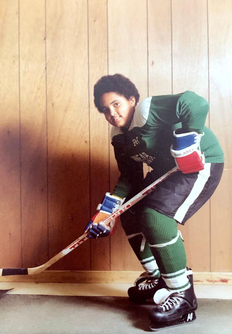 My oldest brother in his hockey gear. (Photo: Darren Andrade)