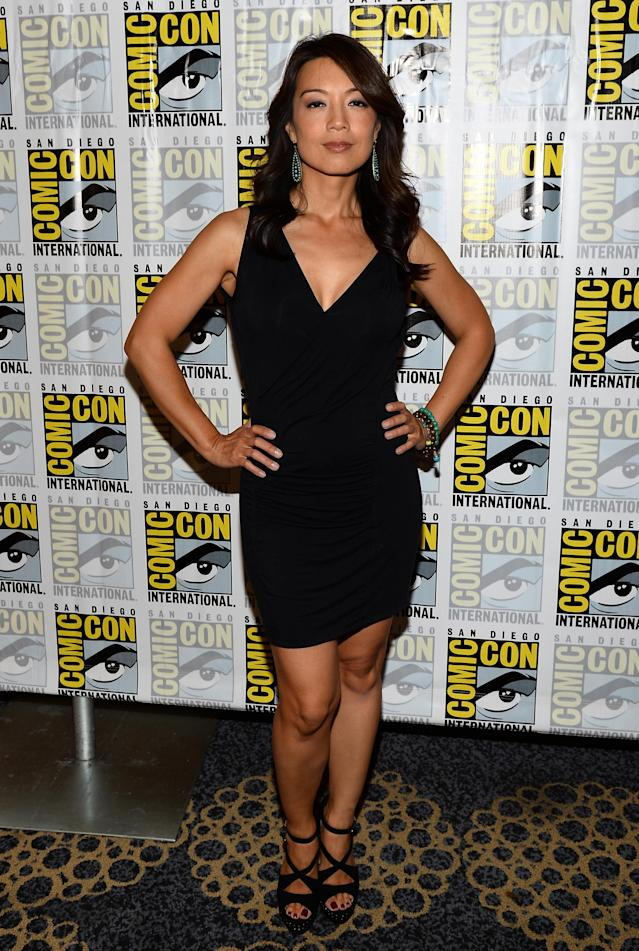 "Ming-Na Wen attends ""Marvel's Agents Of S.H.I.E.L.D."" Press Line during Comic-Con International 2013 at Hilton San Diego Bayfront Hotel on July 19, 2013 in San Diego, California."