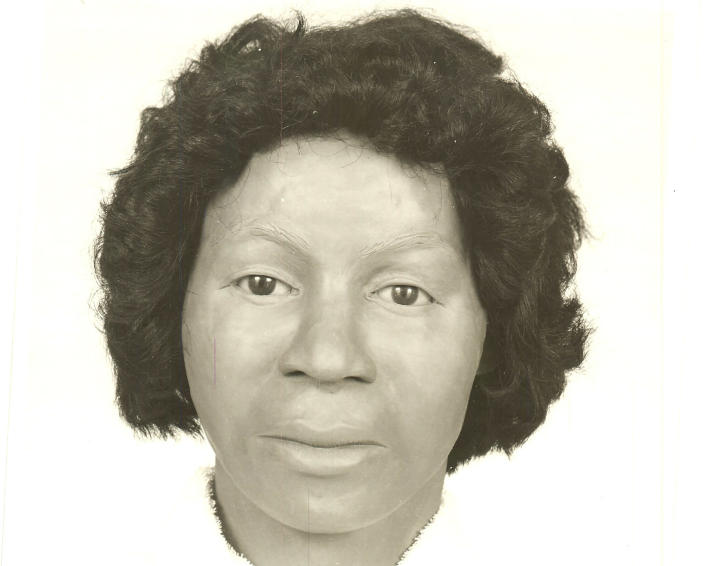 This undated composite based on unidentified skeletal remains and provided by the Jackson County Sheriff's Department in Pascagoula, Miss., shows what the woman may have looked like. On Tuesday, Sept. 21, 2021, authorities said that they have now identified the skeletal remains of the woman found nearly 44 years earlier as Clara Birdlong and investigators believe she was a victim of the now-deceased Samuel Little, the most prolific serial killer in U.S. history. (Jackson County Sheriff's Department via AP)