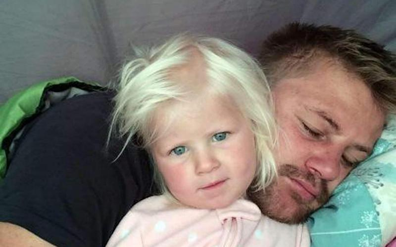 Pictured: Rudy Bruynius and his daughter McKayla, who died after being swept out to sea at Fistral Beach in Cornwall - PA