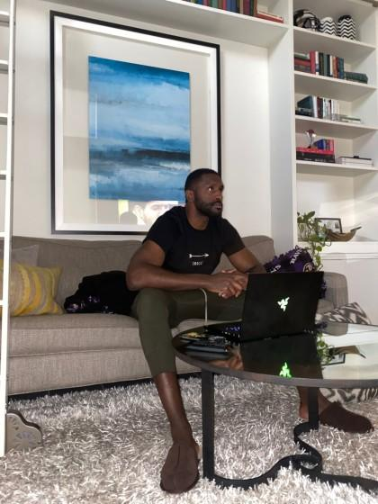 """Clippers power forward Patrick Patterson has been alternating his workout schedule with his binge-watching schedule. <span class=""""copyright"""">(Arash Markazi / Los Angeles Times)</span>"""