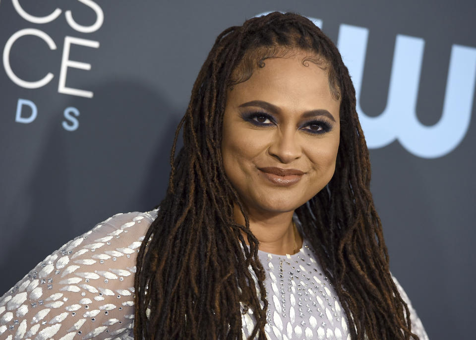 Ava DuVernay arrives at the 25th annual Critics' Choice Awards on Sunday, Jan. 12, 2020, at the Barker Hangar in Santa Monica, Calif. (Photo by Jordan Strauss/Invision/AP)
