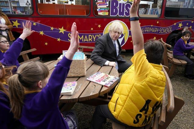 Boris Johnson said there had been 'suffering' for children with schools closed