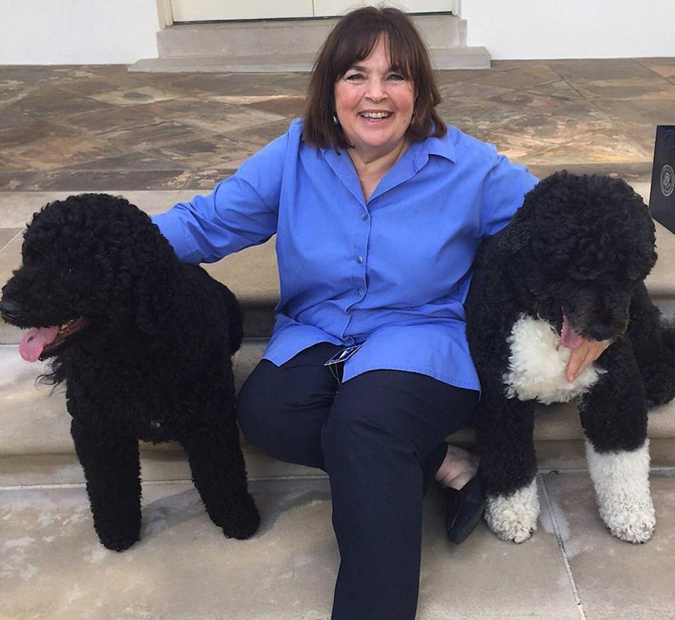Ina Garten with Sunny and Bo Obama