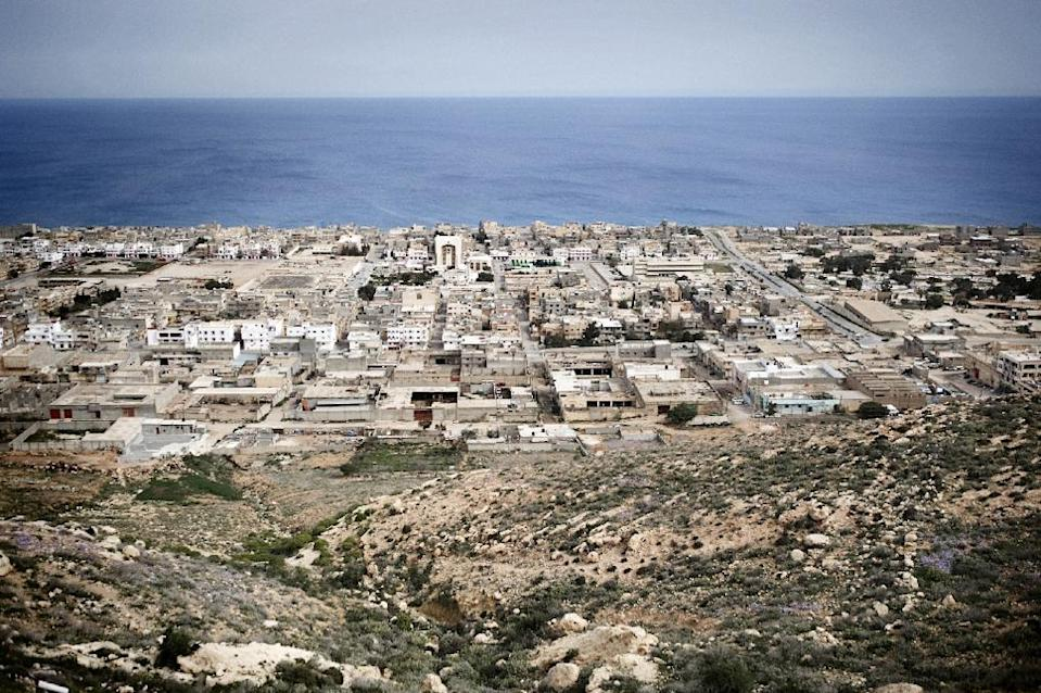 A general view shows the eastern Libyan town of Derna on March 15, 2011 (AFP Photo/Alessio Romenzi)