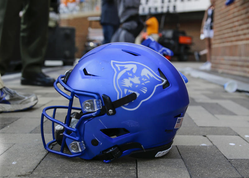 A helmet of the Georgia State Panthers