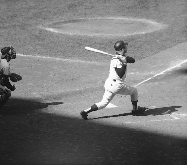 <p>The greatest individual baseball season is very debatable because of how the game has changed both technically and demographically over the years. But Mantle's 1956 year checks off all the boxes. He won the rare batting triple crown, leading the league in average (.353), home runs (52) and RBIs (130). This is especially impressive because he had to beat out legendary hitter Ted Williams in all those categories. For the stat nerds, he also led the league in wins above replacement (11.2) by a lot, with the next-best player coming in at 8.3. </p>