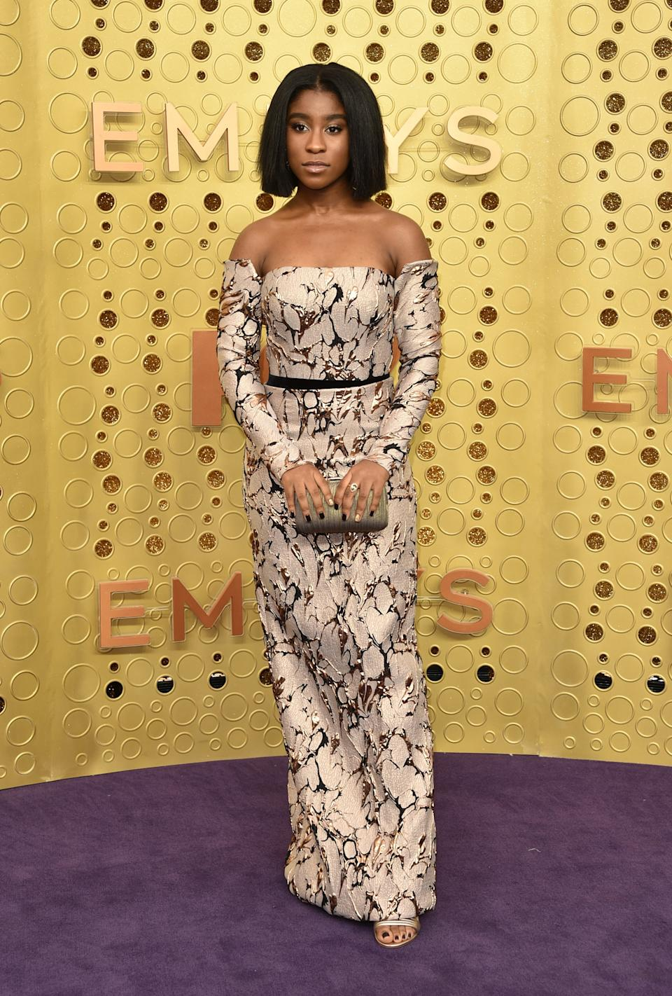 """<h1 class=""""title"""">Lyric Ross in Rubin Singer with a Tadashi Shoji clutch</h1><cite class=""""credit"""">Photo: Getty Images</cite>"""