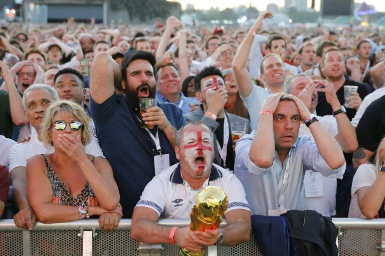 England supporters go through the emotions as they see their team slip to defeat to Croatia