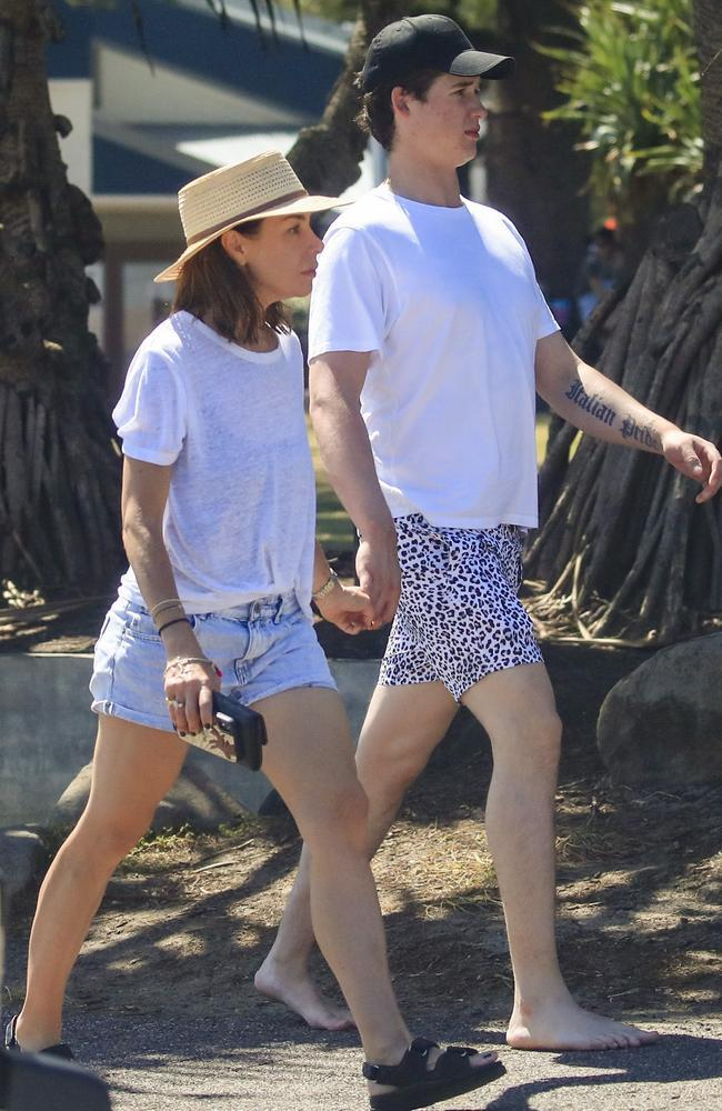 Kate and John were spotted loved up in Byron Bay. Photo: Media Mode