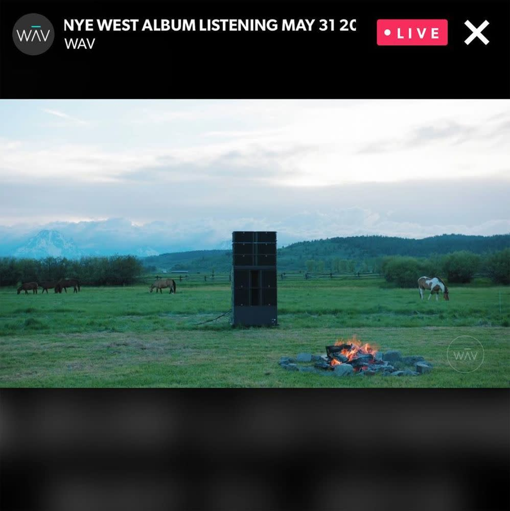 Kanye West's listening party