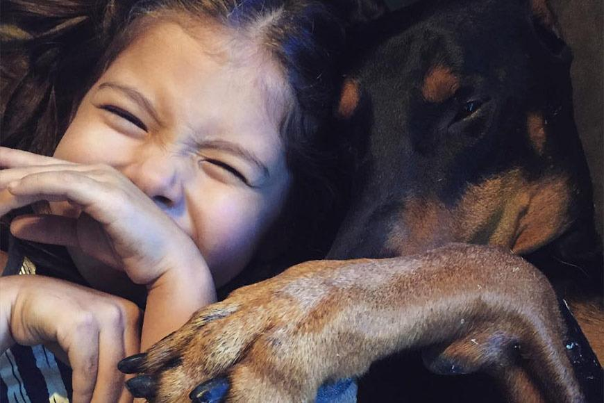 When Siena's Chihuahua, Rabbit, was killed in an accident, her parents got her Buddha. Although they were skeptical at first about getting her a Doberman, he has proved to be her best friend in the whole world. Their adorable relationship has garnered them more than 100,000 followers on Instagram and 44,000 Facebook likes. After looking at some of these pics, its easy to see why!
