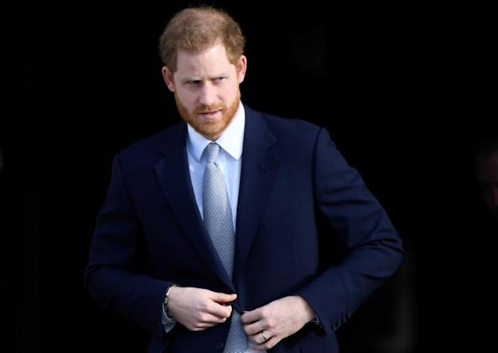 Britain's Prince Harry attends a rugby event at Buckingham Palace gardens in London