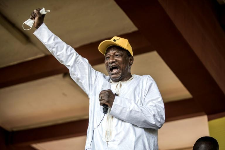 Alpha Conde, Guinea's first democratically-elected president, launched a review of mining permits