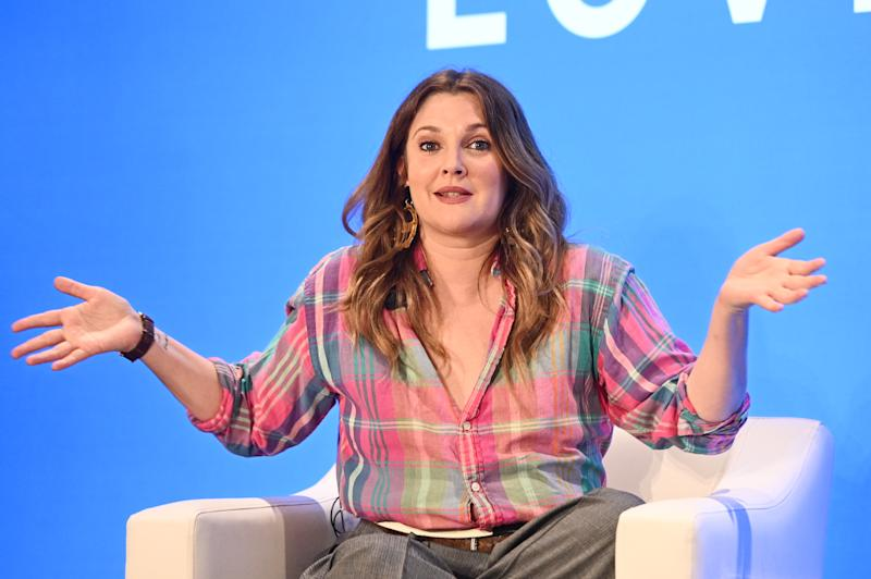 "NEW YORK, NEW YORK - MAY 15: Drew Barrymore speaks onstage at the American Express and WeWork ""For The Love Of Collaboration"" at WeWork on May 15, 2019 in New York City. (Photo by Mike Pont/Getty Images)"