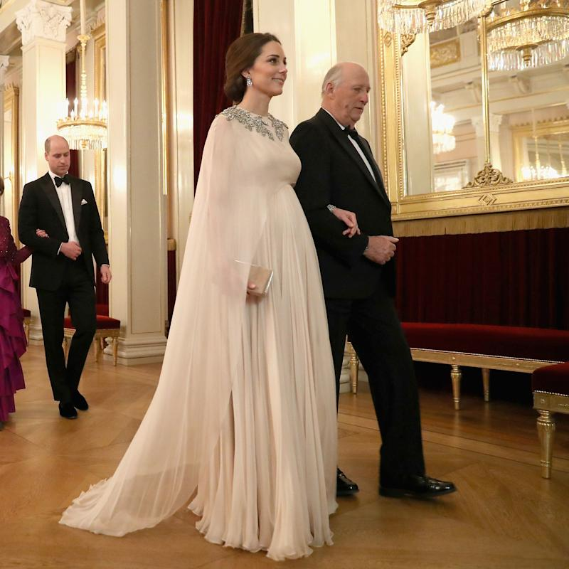 debca57ccc08 Kate Middleton Delivers the Maternity Glamour in Alexander McQueen