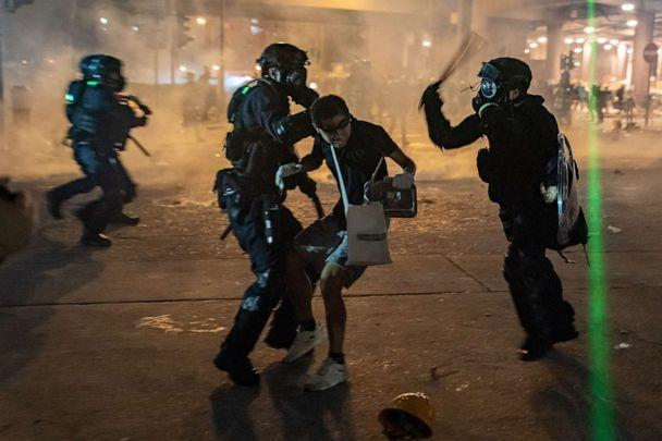 PHOTO: Riot police detain a protester during a demonstration, Aug. 5, 2019, in Hong Kong, China. (Anthony Kwan/Getty Images)