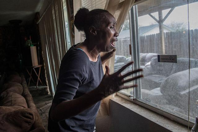 <p>Sequita Thompson recounts the horror of seeing her grandson, Stephon Clark, dead in her backyard after he was shot by police, in Sacramento. Calif., on March 20, 2016. (Photo: Renée C. Byer/The Sacramento Bee via ZUMA Wire) </p>