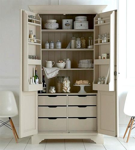 """<b>Larder cupboard</b><br><br>The larder cupboard is making a welcome return. Hugely practical, this spacious free-standing cupboard, £1,990 from <a href=""""http://www.anangelatmytable.com/grande-larder-cupboard-415-p.asp"""" rel=""""nofollow noopener"""" target=""""_blank"""" data-ylk=""""slk:An Angel At My Table"""" class=""""link rapid-noclick-resp""""><span>An Angel At My Table</span></a>, is designed to store boxes, tins, vegetables and spice jars. Available in white or antique white, the company will also have it painted in the colour of your choice, for no more than the cost of the paint."""