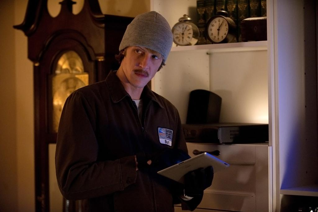 "Nolan (Gabriel Mann) rocks a mustache as part of his undercover disguise in the ""Grief"" episode of ""Revenge.""<br><br>Tune in to ""Revenge"" this week to see what happens -- and be sure to download our super-cool TV app, IntoNow, and <a href=""http://www.intonow.com//promo/revenge"">enter our ""Revenge"" sweepstakes</a> to win a luxury getaway in the Hamptons."